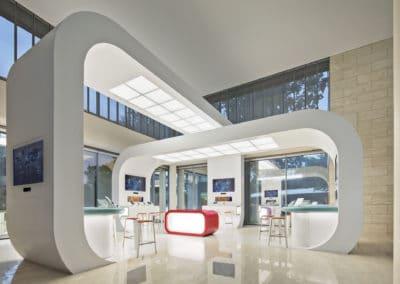 Global Technology Company Lobby Showcase